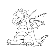 Download Coloring Pages Cute Dragon Coloring Pages At Interior