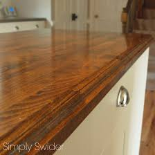 Ikea Wood Countertop Review Creating Custom Butcher Block Countertops Simply Swider