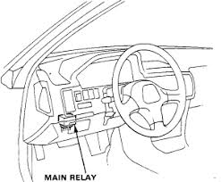 my acura integra will not start it turns over but will not the fuel pump main relay is located under the dashboard area it is to the left of the steering wheel mounted on the back of the fuse panel