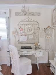 20 shabby chic home office ideas shabby chic is a style which combines old and vintage items worn decorative elements and puts on the first place the chic vintage home office desk cute