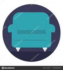 Icon Design Furniture Flat Icon Design Sofa Living Room Furniture Stock Vector