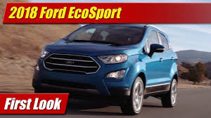 2018 ford ecosport.  ford to 2018 ford ecosport