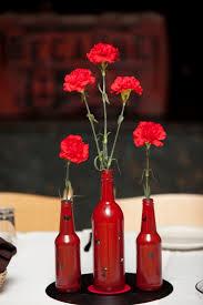 The Domestic Geek: My rock n' roll wedding! Red CenterpiecesBeer ...