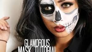 makeup tutorial mugeek vidalondon glamorous half skull mask tutorial