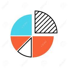 Pie Chart Color Icon Circle Divided Into Parts Diagram Circular