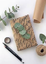diy calligraphy wrapping paper tutorial create beautiful wrapping paper with your brush lettering follow
