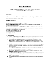 Resume For Quality Engineer In Mechanical Engineering - April ...