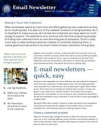 024 Ms Word Newsletter Template Free Email List Templates