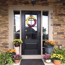 exterior doors with glass panels