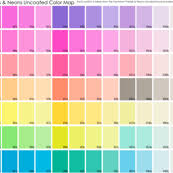 Neon Pastel Uncoated Color Map Spoonflower