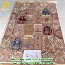 4x6ft handmade pure silk indian silk rugs modern house carpets image