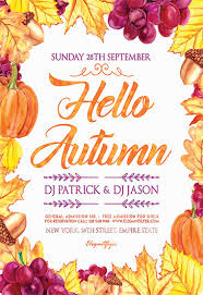 Fall Flyer Invitation Flyer For Hello Autumn