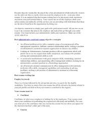 Executive Assistant Resume Objective Administrative Examples For