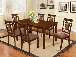 com the room style 7 piece cherry finish solid wood dining table set table chair sets