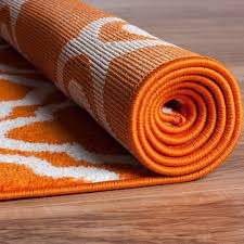 modern rug calipso orange 3 3 x5 lattice trellis accent area rug entry way bright kids room kitchn bedroom carpet bathroom soft durable area rug