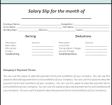 Salary Slip Word Format Salary Slip Template In Excel India Free Invoice Sample Fresh