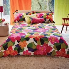 multicoloured funky floral bedding  scion diva bed linen at