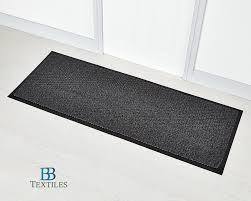 grey washable non slip rubber backed door floor rug runner 60 x 160cm