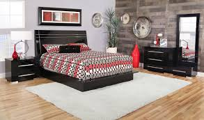 Dimora Black Dressing Chest/Queen Lacquer Bed Set