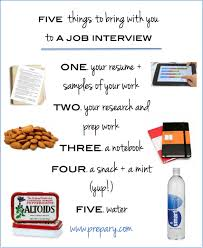 what to bring with you to a job interview
