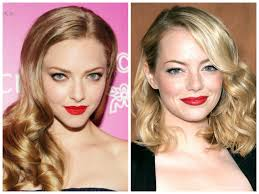 red lipstick for blondes with cool skin tone