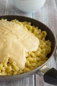 vegan mac and cheese mixing