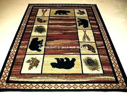 rustic area rug for medium size of log cabin rugs indoor style lodge full bear living lodge cabin rustic area rug