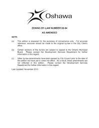 zoning by law no 60 94 city of oshawa