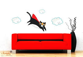 chamber decals super cat wall decal daphne sivetidis super cat wall decal cat wall decals canada
