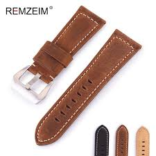 genuine leather watchband 20mm 22mm 24mm 26mm crazy horse head belt men frosted cowhide watches strap watch accessories best leather watch straps best watch