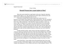 essay on women should women have equal rights to men men and women should women have equal rights to men men and women should have document image preview