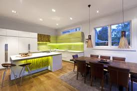 Green And White Modern Kitchen Interior Design Ideas - White modern kitchen