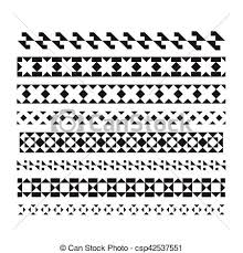 Abstract Line For Design Set Of Vector Borders And Lines