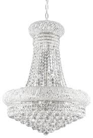 new french empire crystal silver chandelier