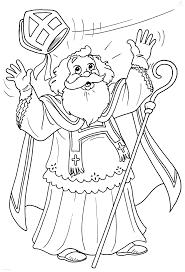 1001 Kleurplaten Sinterklaas Sint De Mijter Van Sint