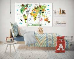 nursery animals world map canvas canvas printscanvas  on nursery canvas wall art canada with nursery animals world map canvas panel wall art panel walls and