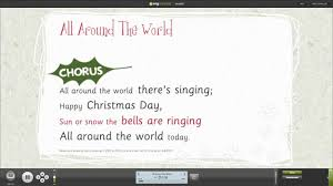 Light The Candles All Around The World Instrumental All Around The World Assembly Song From A Cracking Christmas Songbook With Words On Screen