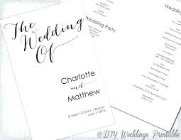 Wedding Ceremony Brochure Wedding Ceremony Booklet Template Catholic Funeral Mass Free