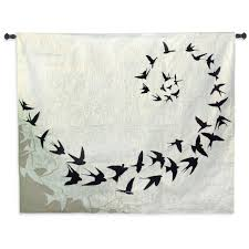 flight contemporary tapestry wall hanging  modern design with