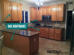 a tale of painting oak cabinets practicallyspoiled com