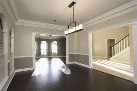 dining room two tone paint ideas. Image Of: Two Tone Walls With Chair Rail And Dark Hardwood Dining Room Paint Ideas E