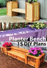 15 diy planter bench plans