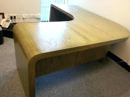 curved office desks. Curved Office Desk Awesome Bespoke Wooden Furniture Built In West Wood Leather Pad Rounded Home Desks M