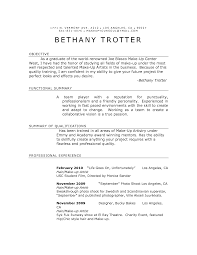 Example Artist Resume With Bethany Trotter And Objective Plus