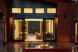 modern exterior sliding doors. View In Gallery Cool Sliding Doors Between Living Space And Patio With Modern Fireplace Exterior O