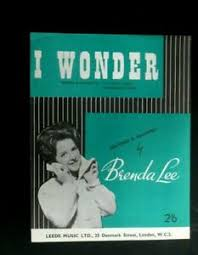 Details About Brenda Lee 50s Sheet Music I Wonder By Cecil Gant Raymond Leveen