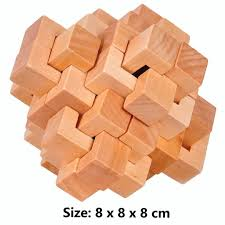 Wooden Brick Game Ahyuan Handmade Wooden Puzzle 100 PCS Interlocking Brain Teasers 97