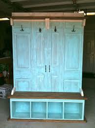 Old Door Coat Rack And Bench Mesmerizing Hall Tree Coat Rack Bench By JeraldBuildsStuff On Etsy 3232