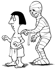 Small Picture Mummy Coloring Page Mummy With Ancient Egyptian