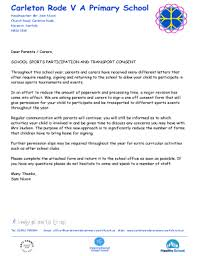 Parental Consent Letter Ohye Mcpgroup Co